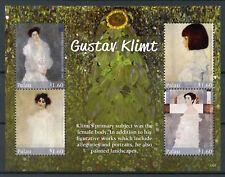 Palau 2017 MNH Gustav Klimt Hermine Gallia Serena Lederer 4v M/S Art Stamps