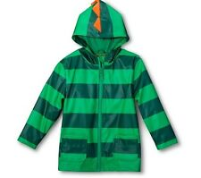 Cherokee Toddler Boys' Striped Dinosaur Raincoat Green Size 12M