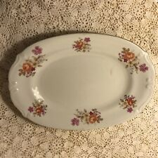 CHODZIEZ Poland Oval Serving Platter Floral Beautiful Platter
