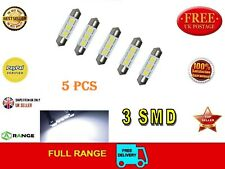 5 LED Festoon bulb Canbus 36mm 3 SMD 12V C5W 239 dome Error Free ******UK Seller