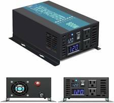 Reliable Power Inverter 800w Pure Sine Wave 12v 110v 120v US outlet Car RV Motor