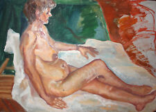 European expressionist oil painting nude