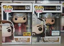 Funko Pop! Lord of the Rings: ELROND HT Exclusive & KING ARAGORN B&N Exclusive!