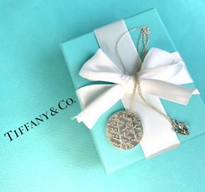 Tiffany & Co. Sterling Silver Tiffany Notes Pendant Necklace with Original Box