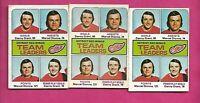 3 X 1975-76 OPC # 318 WINGS MARCEL DIONNE TL  CARD  (INV# C4747)