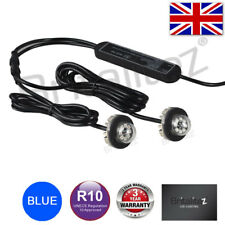 12v 24v Flashing LED HIDE AWAY LIGHTS, Light Bar Recovery Strobe Beacon BLUE