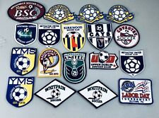25 USA Soccer Club Shoulder Uniform Patch Lot Press On And Sew On Patches