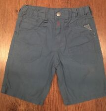 BOYS 18 MONTHS REPLAY BLUE SHORTS COTTON SUMMER/HOLIDAY/SPORT/FOOTBALL/PARTY