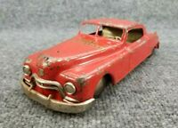 """VINTAGE 1950s FRICTION CAR FIRE CHIEF ARNOLD W.GERMANY 10"""" LONG"""