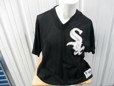 VINTAGE RUSSELL ATLETIC CHICAGO WHITE SOX 2XL 52 PULL-OVER BLACK SEWN JERSEY 90s