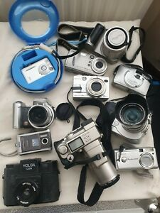 Job Lot 11 x Vintage Digital Cameras Film Cameras UNTESTED