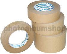 Kikusui 108 framers kraft brown paper picture framing tape 24mm up to 72mm x 50m