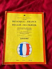 More details for 1961 belgique belgium v france international football friendly programme