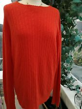 SYM S.Y.M. PRET A PORTER ANGORA/ WOOL JUMPER IN ORANGE - LARGE - NEW WITH TAGS