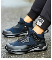 Mens Safety Shoes Steel Toe Lightweight Work Boots Hiking Trainers Sneakers Camp