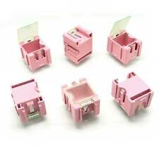 50 x Components Part Laboratory Screws Useful Storage Boxes SMT SMD Pink Unbrand