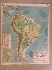Philips Comparative Wall Atlas South America 1955
