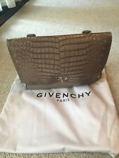 Givenchy Shark Tooth Croc Embossed Satchel Bag from Barneys
