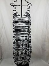 Shakuhachi One Size Maxi Dress Black And White Striped Summer Beach
