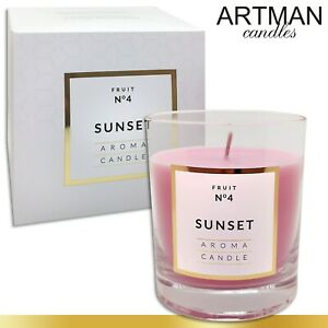 250 g Duftkerze im Glas Sunset 114 h Brenndauer Geschenk Kerze TOP Qualität