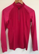 ARCTERYX Womens Pink Athletic Pullover Half Zip Shirt Size SMALL