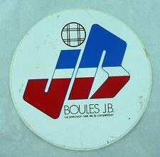 """ANCIEN AUTOCOLLANT DES ANNEES 70 / ORIGINAL """"BOULES J.B."""" STICKER"""