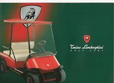 Tonino LAMBORGHINI GOLF CART _ 2002 prospetto/Brochure
