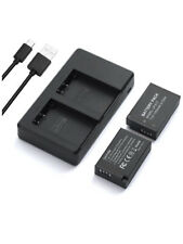 LP-E17 2 Pack Camera Battery Charger with Micro USB Charger For DSLR Cameras