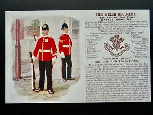 History & Tradition THE WELSH REGIMENT Postcard by Gale & Polden No.75a
