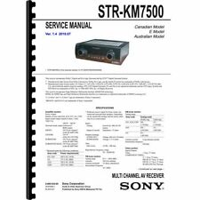 Sony STR-KM7500 Stereo Receiver Service Manual (Pages: 80) 11x17 Drawings