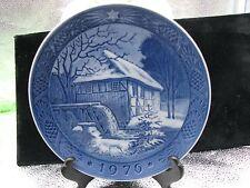 """Royal Copenhagen Christmas Plate 1976 """"Vibaek Water-Mill"""""""