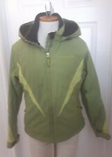 Ladies SPYDER XT 5000 Ski snowboard jacket green two tone COAT size 10