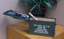 -.50 cal AMMO CAN CIGAR HUMIDOR - 50 COUNT - RUGGED - NEW