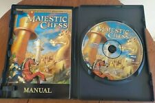 SUPER RARE! COMPLETE with Manual Majestic Chess PC GAME Retro Vintage