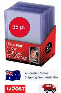 25x Ultra Pro Toploaders CLEAR POKEMON Card Protector* Top Loader Toploader 35PT