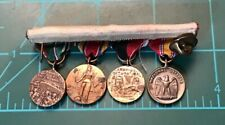4 Vintage WW 2 US Army Minature Medals Military