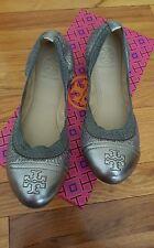 Tory Burch Gabby Ballet Flat ~ pewter (Size 7)