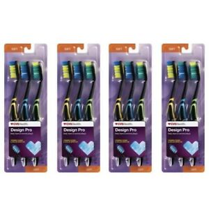 4-CVS Health Design Pro Toothbrush SOFT Deep Clean Angled Bristles 3 Count Lot