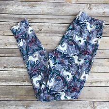 Blue Green White Unicorn Women's Leggings OS One Size 2-12 Soft as LLR