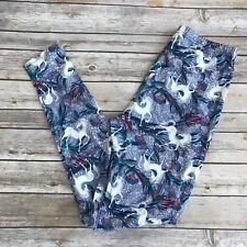 Blue Green White Unicorn Women's Leggings PS Plus Size TC 12-20 Soft as LLR