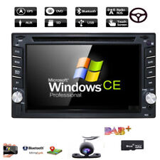 Sony Lens GPS+MAP+Cam-Double 2Din In Dash Car Stereo DVD Player Radio BT iPod