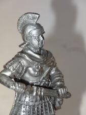 Roman Centurion Soldier Sword Metal Figure Statue Vintage