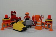Lego Duplo Baustelle 1 Figur mit Rüttelmaschine und viel Zubehör