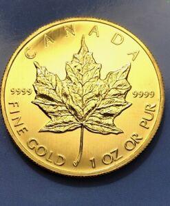 2010 1 oz Canadian Gold Maple Leaf $50 Coin .9999 Fine BU Beautiful Coin