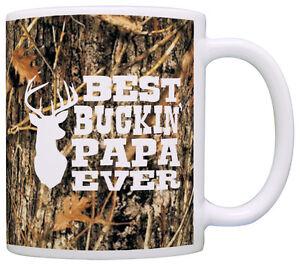Grandpa Gifts Hunting Camo Best Buckin' Papa Ever Coffee Mug Tea Cup