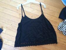 new BP Nordstrom black rayon camisole top shirt medium womens