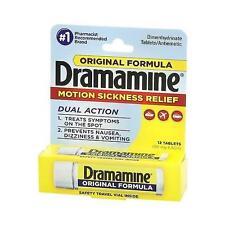 New Dramamine Motion Sickness Relief Original Formula, 12 Count