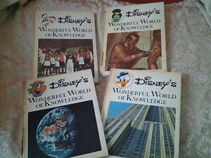 Disney's Wonderful World of Knowledge Vintage Children's Encyclopedia Books