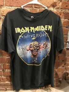 Iron Maiden 1988 Tour Shirt Vintage Seventh Son Men's Size L Made In USA NICE 🔥