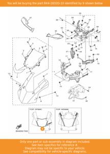 YAMAHA Graphic 17, BX4-2832D-10 OEM YZF-R1